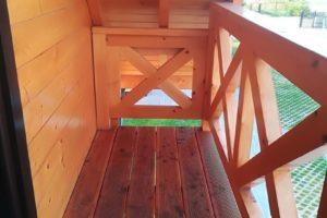 Domki drewniane balkon