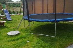 Domki drewniane trampolina